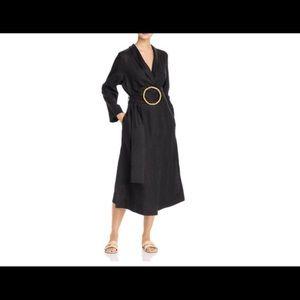 Daily Sleeper Linen Wrap Dress with Belt
